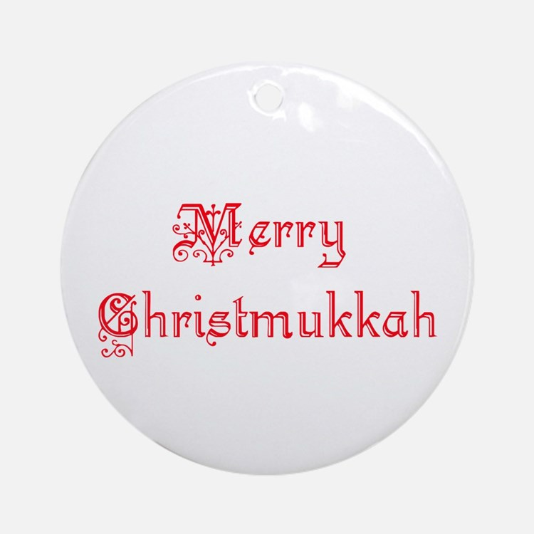 Christmukkah Ornament (Round)