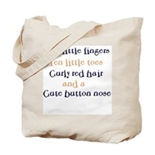 Ten little fingers ~curly red~ Tote Bag
