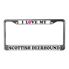 I Love My Scottish Deerhound License Plate Frame