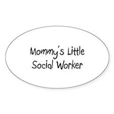 Mommy's Little Social Worker Oval Decal