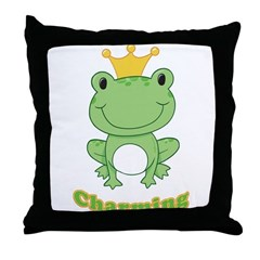 Charming (Frog) Throw Pillow