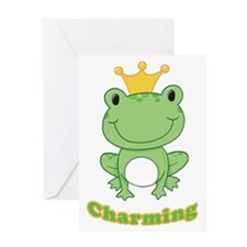 Charming (Frog) Greeting Card