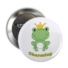 """Charming (Frog) 2.25"""" Button"""
