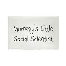 Mommy's Little Social Scientist Rectangle Magnet