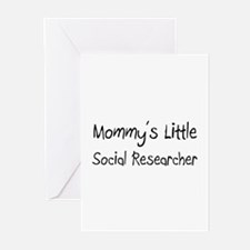 Mommy's Little Social Researcher Greeting Cards (P