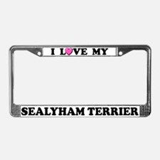 I Love My Sealyham Terrier License Plate Frame