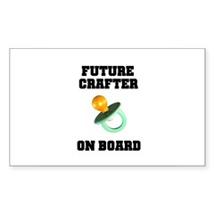 Future Crafter On Board - New Rectangle Decal
