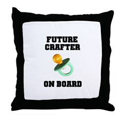 Future Crafter On Board - New Throw Pillow