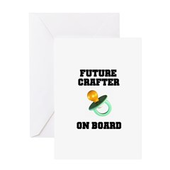Future Crafter On Board - New Greeting Card