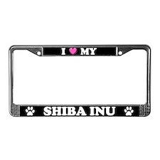 I Heart My Shiba Inu License Plate Frame