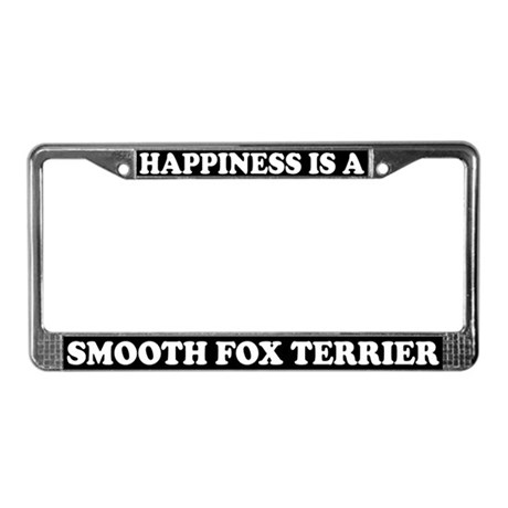 Happiness Smooth Fox Terrier License Plate Frame