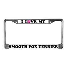 I Love My Smooth Fox Terrier License Plate Frame
