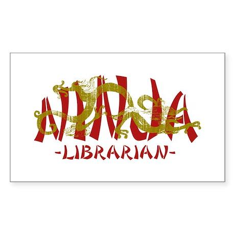 Dragon Ninja Librarian Rectangle Sticker