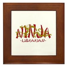 Dragon Ninja Librarian Framed Tile