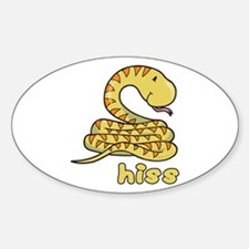 Hiss Snake Oval Decal