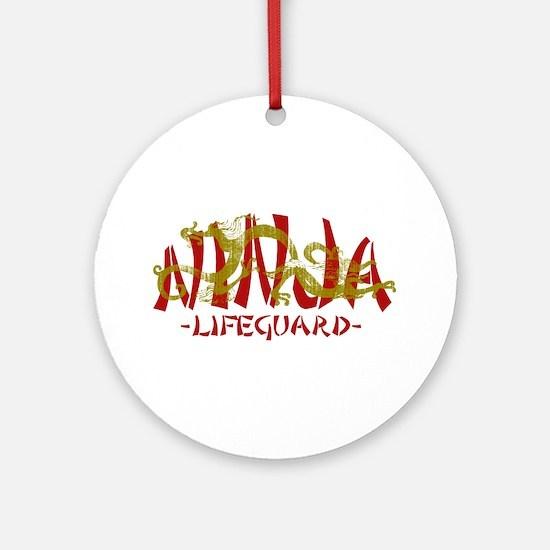 Dragon Ninja Lifeguard Ornament (Round)