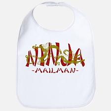 Dragon Ninja Mailman Bib