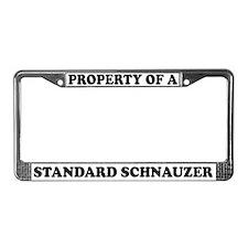 Property Of Standard Schnauzer License Plate Frame
