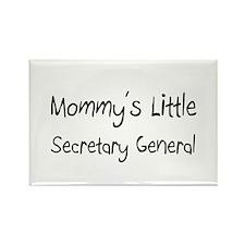 Mommy's Little Secretary General Rectangle Magnet