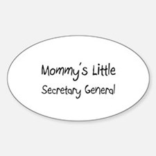 Mommy's Little Secretary General Oval Decal