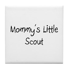 Mommy's Little Scout Tile Coaster