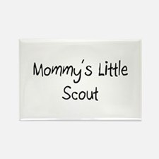 Mommy's Little Scout Rectangle Magnet