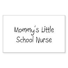 Mommy's Little School Nurse Rectangle Decal