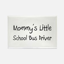 Mommy's Little School Bus Driver Rectangle Magnet
