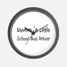 Mommy's Little School Bus Driver Wall Clock
