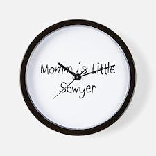 Mommy's Little Sawyer Wall Clock