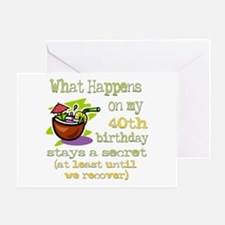 What Happens 40th Greeting Card