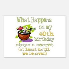 What Happens 40th Postcards (Package of 8)