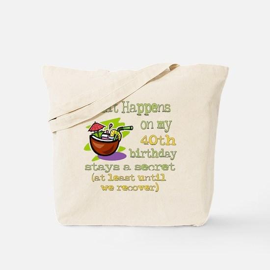 What Happens 40th Tote Bag