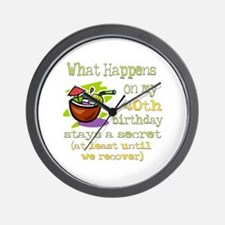 What Happens 40th Wall Clock