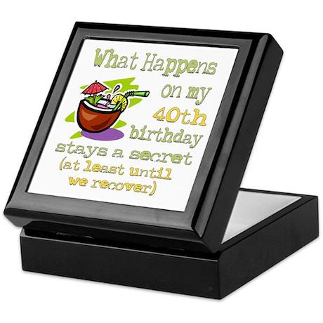 What Happens 40th Keepsake Box