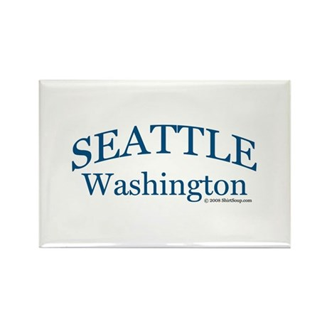 Seattle Washington Rectangle Magnet