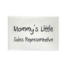 Mommy's Little Sales Representative Rectangle Magn