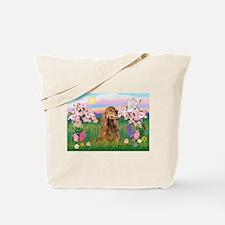 Blossoms / Cocker (brn) Tote Bag