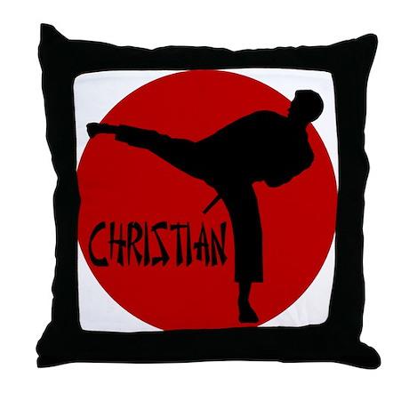 Christian Martial Arts Throw Pillow