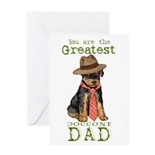 Airedale I Love Dad Greeting Card