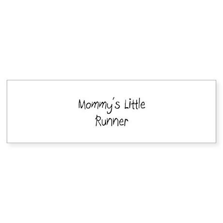 Mommy's Little Runner Bumper Sticker