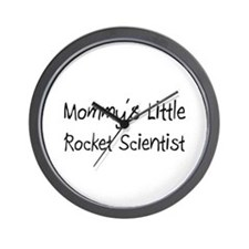 Mommy's Little Rocket Scientist Wall Clock
