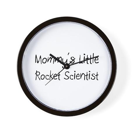 Mommy's Little Rocket Scientist Wall Clock
