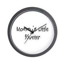 Mommy's Little Riveter Wall Clock