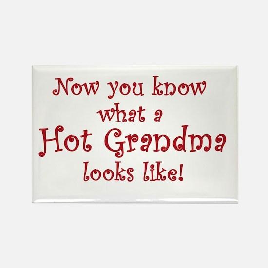 Hot Grandma Rectangle Magnet