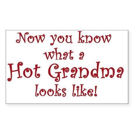 Hot Grandma Rectangle Sticker