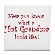 Hot Grandma Tile Coaster