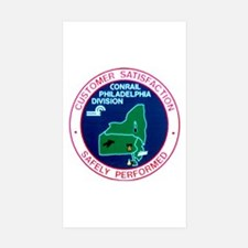 Conrail Philadelphia Division Rectangle Sticker 1