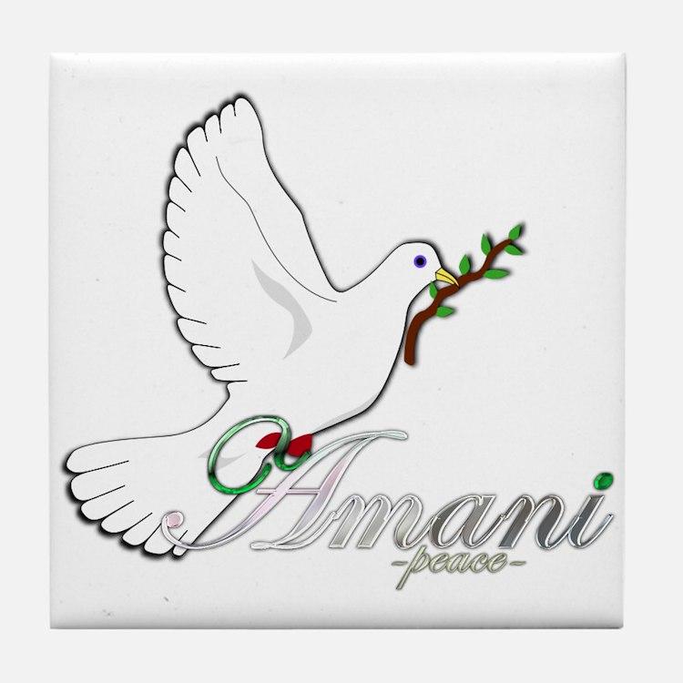Amani - Peace - Tile Coaster