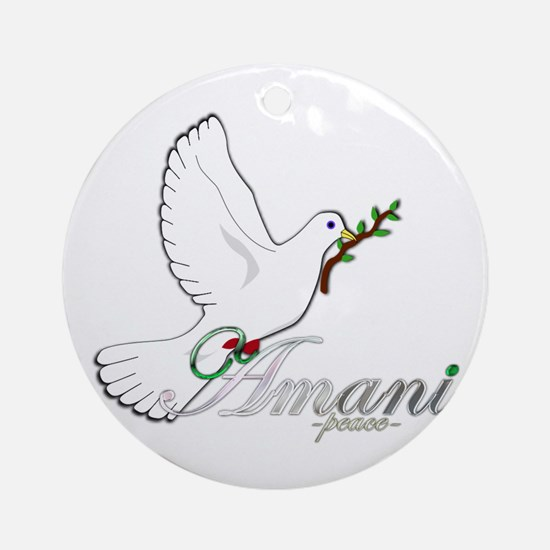 Amani - Peace - Ornament (Round)